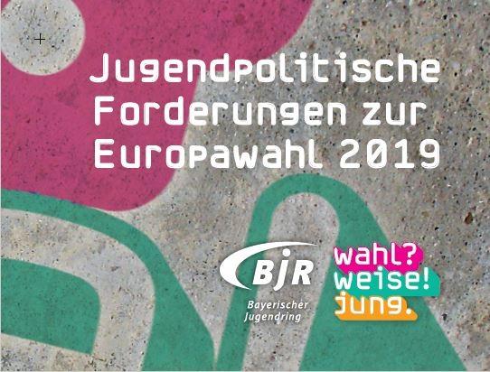 Jugendpolitische Forderungen zur Europawahl 2019 - Forderungskarten