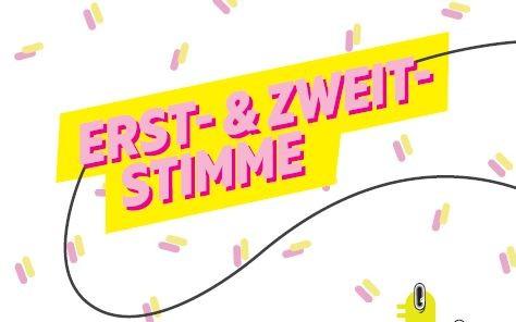 Die Erst- und Zweitstimme bei der Bundestagswahl - Plakat