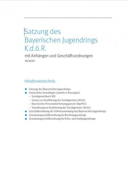 2. Ergänzungslieferung zur Satzung des BJR - Oktober 2020
